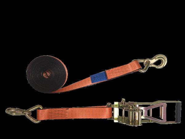 Premium Zurrgurt 50mm mit Power-Zugratsche und Sicherungszurrhaken
