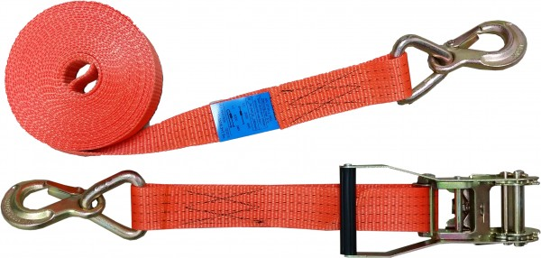Zurrgurt mit Druckratsche und Sicherungszurrhaken, 50mm, 2000 daN