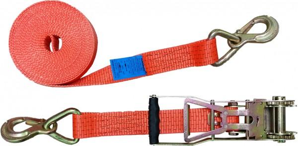Zurrgurt mit Langarmratsche und Sicherungszurrhaken, 50mm, 2000 daN