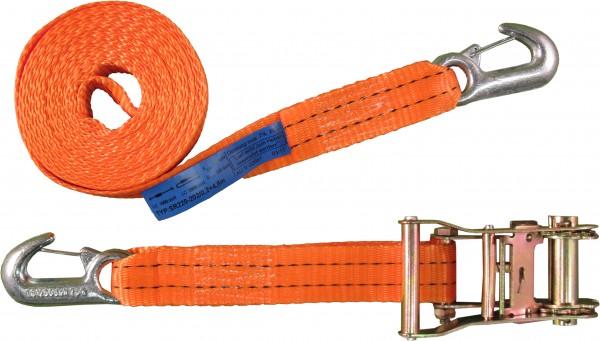 2-teiliger Zurrgurt 35mm, Standard-Ratsche und Sicherungszurrhaken, 1000daN
